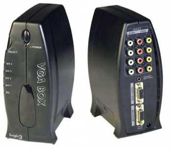 8585123931575 VGA BOX Cinche Composite To VGA 3 Entrées