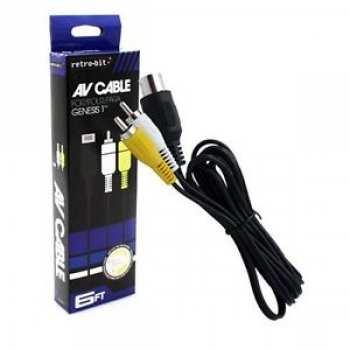 812820022007 Cable Video Aux AV Pour Console Sega Mega Drive/Genesis  Retro-Bit