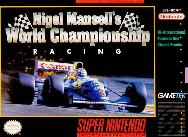 45496330095 igel Mansell S World Championship Racing SNES