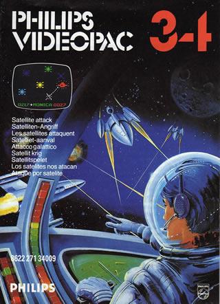5510100745 Cartouche Videopac Numero 34 Les Satellites Attaquent