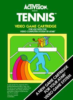 5510100929 Tennis International Edition (Activision) Atari VCS 26