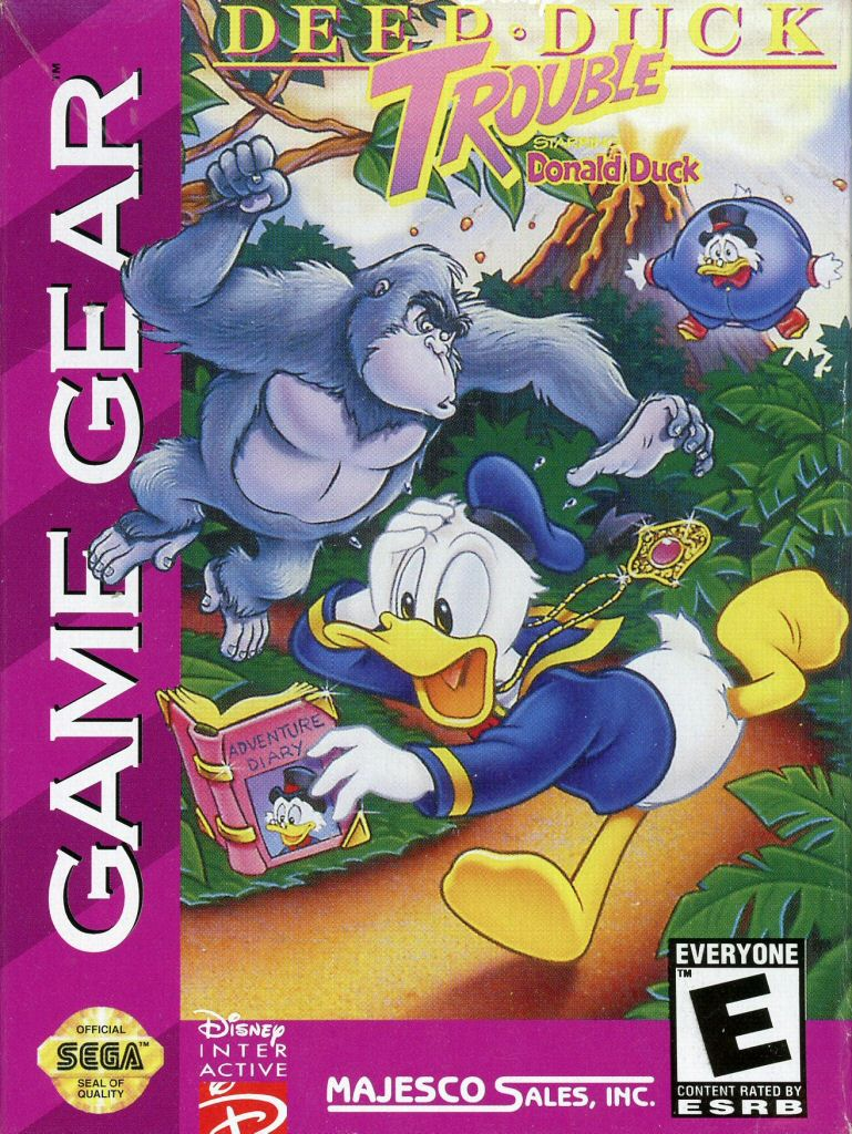 96427012085 Deep Duck Trouble Donald Duck FR Sega Game Gear