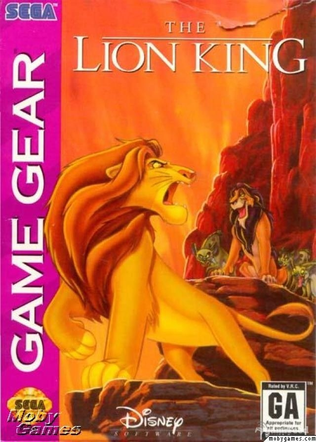 96427012054 Lion King Sega Game Gear