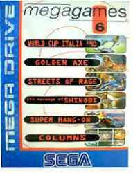 5510102114 Megagames 6 Hang On Street Of Rage Shinobi Golden Axe Sega Mega Drive MD