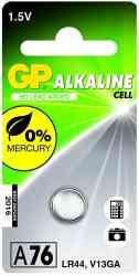 4891199003967 Piles GP A76 ALKALINE LR44 1.5V