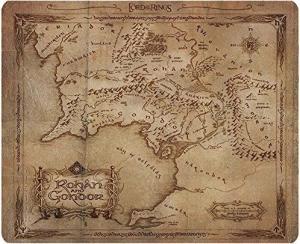 3700789205883 Tapis De Souris Seigneur Des Anneaux Carte Rohan Gondor