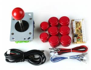 65543236 Kit 1 Joueur Arcade Stick + Boutons RED+ controlleur PS3-Raspberry-PC