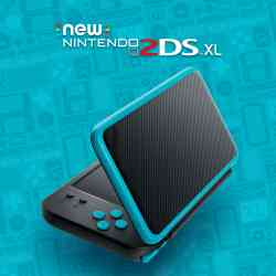 45496504533 Console 2DS XL Noir Et Turquoise Nintendo 2ds