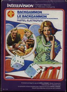 5510104264 Cartouche Intellivison Backgammon (Mettel Electronics) Intellivision