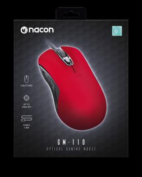 3499550374445 Souris Nacon Optical Gm 110 Red