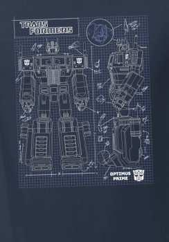 5510106624 Tshirt Optimus Prime Transformers Taille L