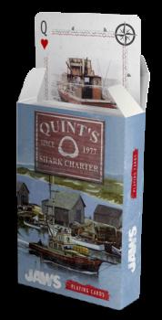 5060662460586 JAWS (les dents de la mer) Quint'shark charter- Jeu de cartes exclusif