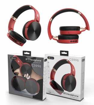 8944870159968 Casque BTS Headphone C5996 Blutooth Noir Et Rouge
