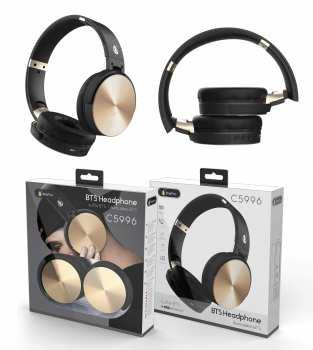 8944870159951 Casque BTS Headphone C5996 Blutooth Or Et Noir