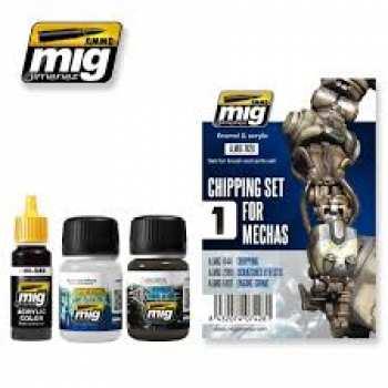 8432074074281 GUNDAM ACC - Chipping Set for Mechas