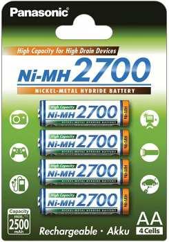 5410853052807 Piles Rechargeables Panasonic 2700 Ni-Mh