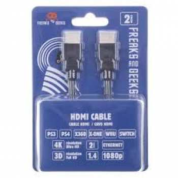 5510106883 Cable HDMI Ethernet 1.4 (2m) 4K Freaks And Geeks (T)