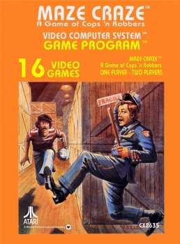 5510107124 MAze Craze (atari) CX2635 Atari VCS 26