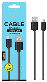 8435350768515 Cable Data Cable Micro USB 1A 3M AS109