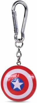 5050293391250 Porte Cle Superhéros - Bouclier Captain america Porte Cle 3D