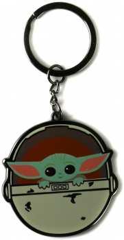 5055453480515 Porte Cle Metal Star Wars Half Moon Baby Yoda