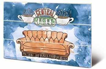 5051265876201 Friends - Central Perk Sofa - Impression Sur Bois 20x29.5