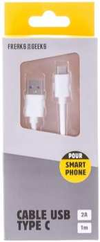 3760178621595 Cable De Recharge Smartphone USB C 1m