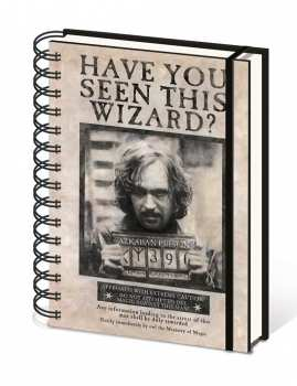 5051265722522 otebook Format A5 Affiche Sirius Black Wanted Harry Potter
