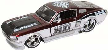 90159321682 Miniature Voiture Ford Mustang GT 1967 Harley Davidson 1 24 Maisto