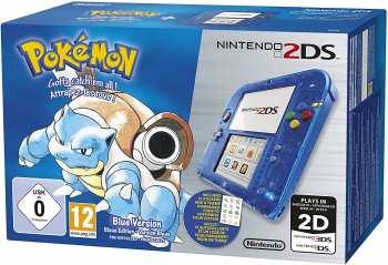 5510108256 Console 2ds Version Pokemon Bleu Transparente