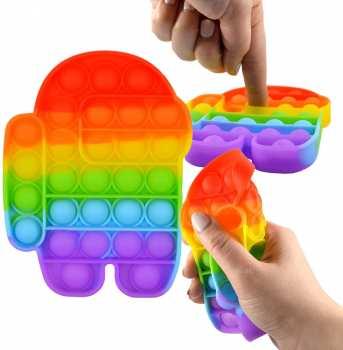 8718546592034 Magic Pop Game Rainbow Assortis - Anti Stress