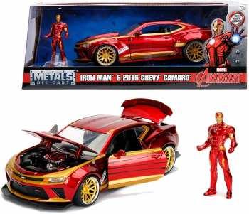 4006333065163 Voiture Metal Iron Man 2016 Chevy Camaro Ss 1 24
