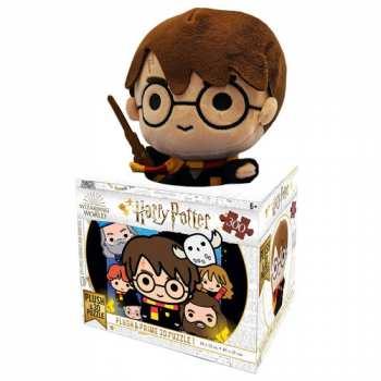 670889358006 Puzzle Lenticulaire Harry Potter 3D + Peluche Harry  300P