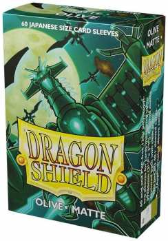 5706569111403 Dragon Shield Sleeves Small 60x Olive Matte