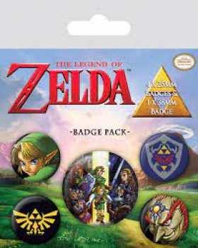 5050293805306 Pack De 5 Badges The Legend Of Zelda