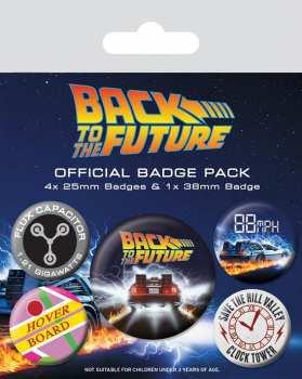 5050293805597 Pack De 5 Badges Retour Vers Le Futur