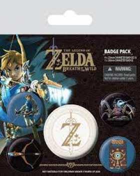 5050293805986 Pack 5 Badges Zelda Breath Of The Wild