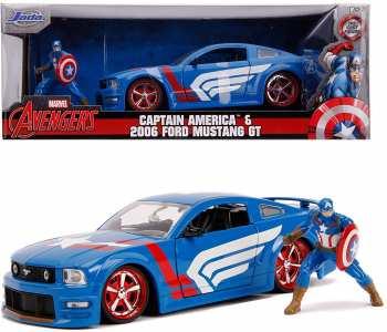 4006333068591 Voiture Metal Marvel Avengers Captain America Et Sa Ford Mustang 2006