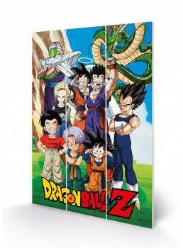 5051265885555 DRAGON BALL Z - GOKU & THE Z FIGHTERS - IMPRESSION SUR BOIS 20X29.5
