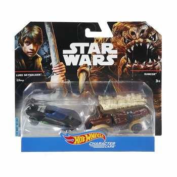 887961227628 Set 2 Voitures Hotwheels Star Wars Luke Skywalker Et Rancor