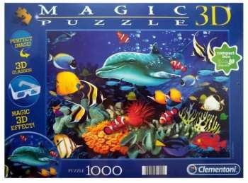 8005125977918 Puzzle 1000 Pieces Clementoni aquarium magic 3d