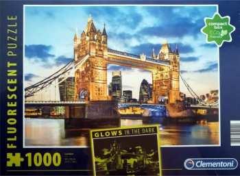 8005125977949 Puzzle 1000 Pieces Clementoni Londres Tower Bridge (brille Dans La Nuit)
