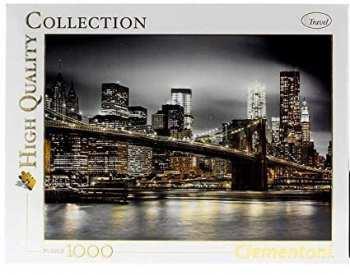 8005125977932 Puzzle 1000 Pieces Clementoni New York (brille Dans La Nuit)