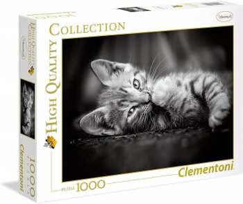 8005125394227 Puzzle 1000 Pieces Clementoni Petit Chaton Noir Et Blanc