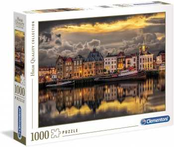 8005125394210 Puzzle 1000 Pieces Clementoni Ville Allemande Au Bord De L Eau