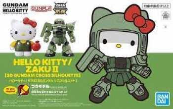 4573102610300 Gundam - SD Cross Silhouette Hello Kitty Char S Zaku II - Model Kit