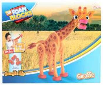 8719904435475 Puzzle 3D En Mousse - Giraffe - Pieces 104