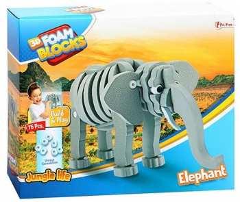 8719904435451 Puzzle 3D En Mousse - Elephant - 75 Pieces