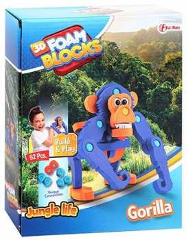 8719904435437 Puzzle 3D En Mousse - Gorilla - 52 Pieces