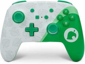 617885026867 Manette Sans Fils Power A Nintendo Switch Animal Crossing Feuille Verte